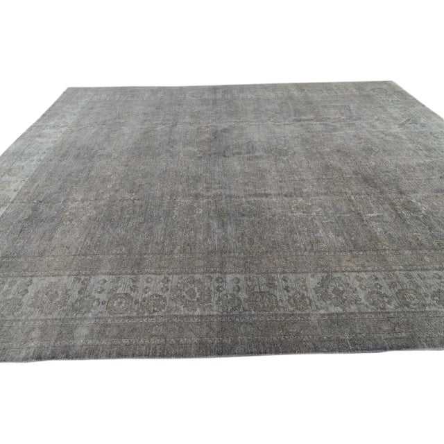 Textile Contemporary Grey Overdyed Wool Room-Size Rug For Sale - Image 7 of 12