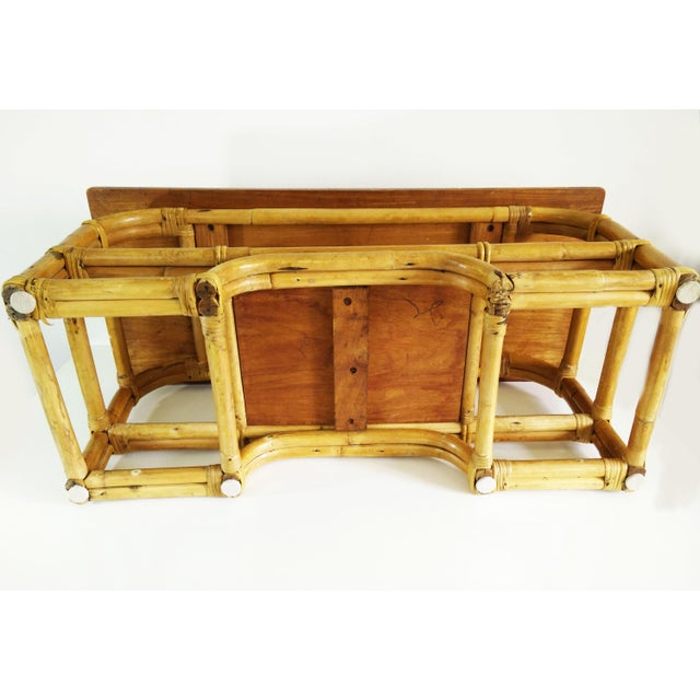Bamboo 1970s Boho Chic Bamboo Coffee Table For Sale - Image 7 of 9