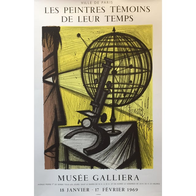 Bernard Buffet Vintage French Exhibition Poster For Sale