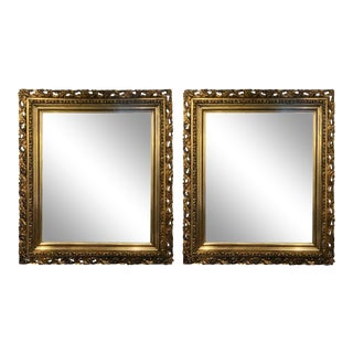 Pair of Giltwood Late 19th Century Wall or Console Mirrors For Sale