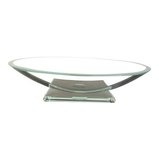 Stephen Schlaser Glass Presentation Bowl For Sale