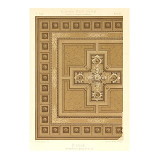 Stone Lithograph - Ornamental Ceiling Design, C. 1880