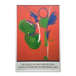 "Helen Frankenthaler Rare Vintage 1990 Lmtd Edtn Framed Abstract Expressionist Hand Pulled Original Silkscreen Print "" Mary Mary "" 1987 For Sale"