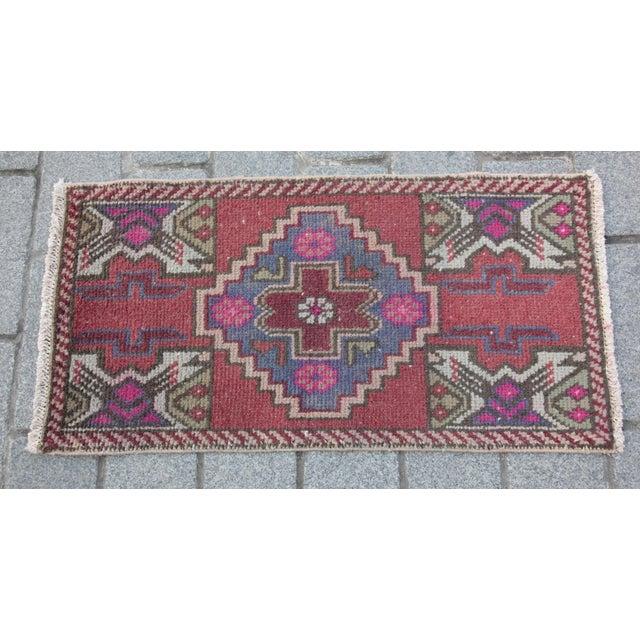 Antique Turkish Carpet - 1′6″ × 3′1″ - Image 11 of 11