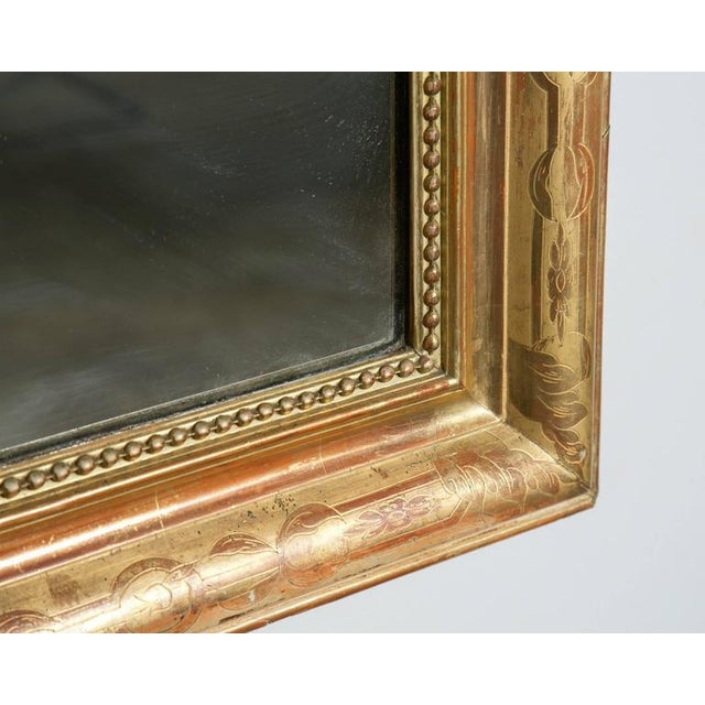 Grand Antique French Louis Philippe Period Mirror For Sale - Image 4 of 10