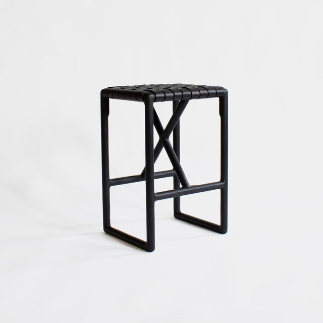Black Montgomery Stool For Sale - Image 8 of 8