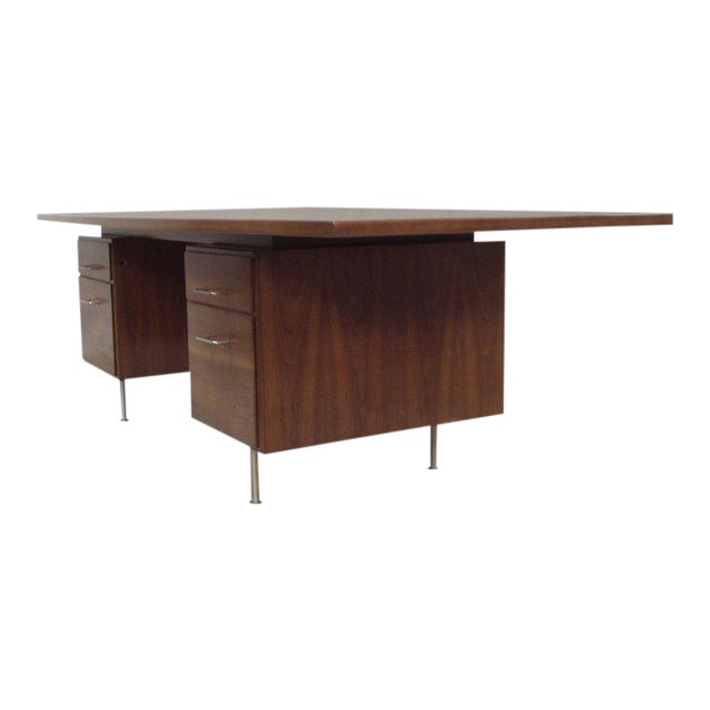 Large Walnut Exécutive Desk by Jens Risom - Image 1 of 4