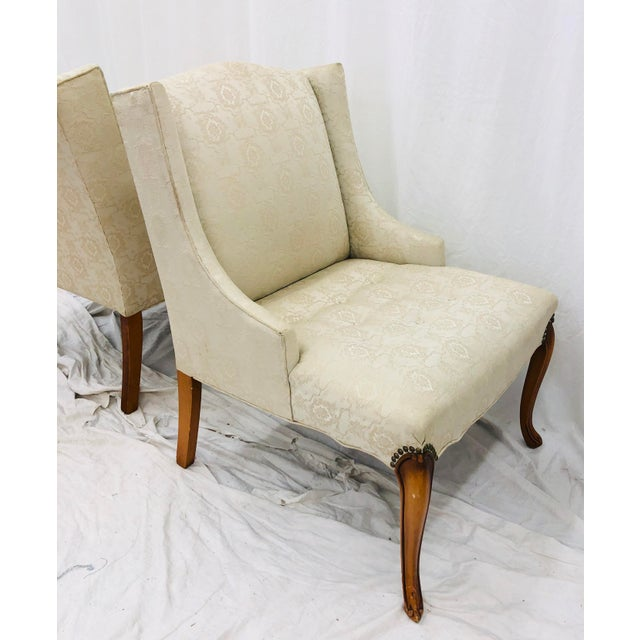 Pair Vintage French Style Side Chairs For Sale - Image 11 of 12