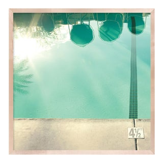 Pool Reflections by Christine Flynn in Natural Maple Framed Paper, XL Art Print For Sale