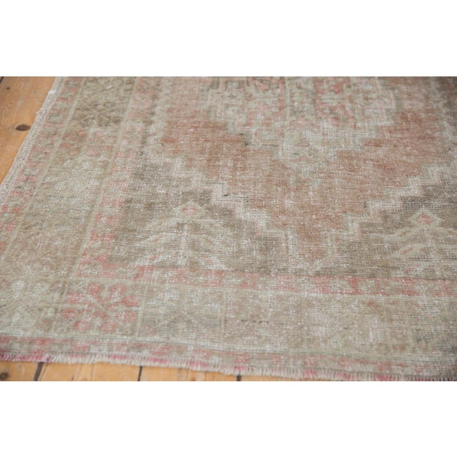 """Tan Distressed Oushak Rug - 3'7"""" X 6'3"""" For Sale - Image 8 of 11"""