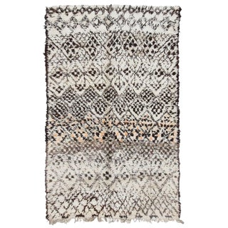 20th Century Moroccan Brown Wool Marmoucha Rug