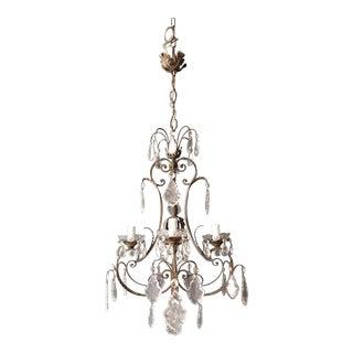 Candelabrum Chandelier Crystal Lustre Ceiling Lamp Hall Antique Art Nouveau For Sale