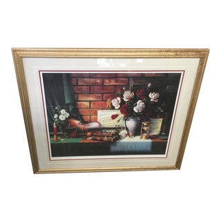 1980s Ronnie Hedge Limited Edition Signed Lithograph Still Life For Sale