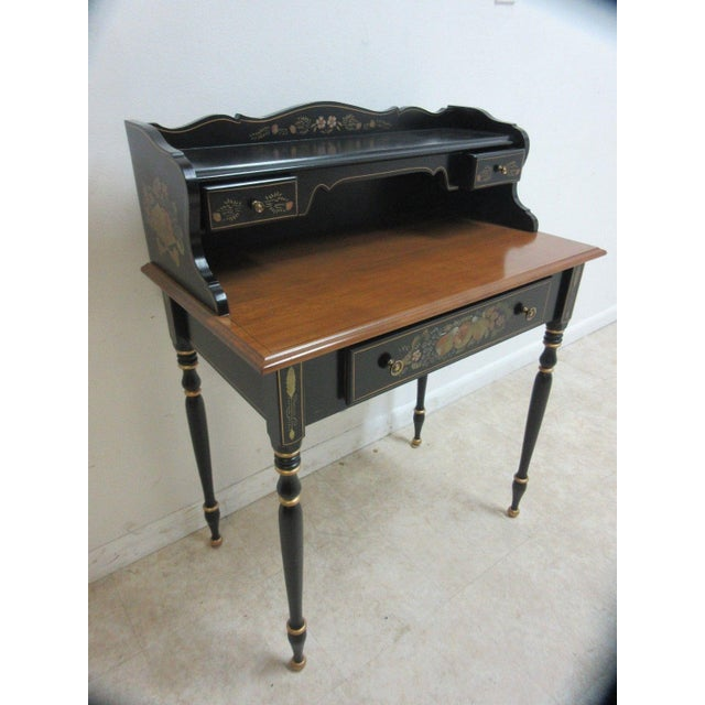 Traditional Ethan Allen Hitchcock Paint Decorated Writing Desk For Sale - Image 3 of 10