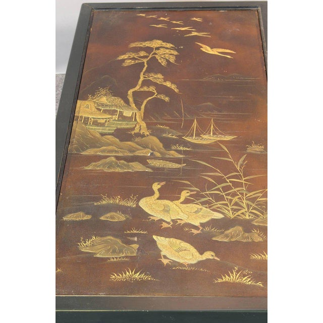 Chinoiserie Lacquered Cocktail Table For Sale In Richmond - Image 6 of 11
