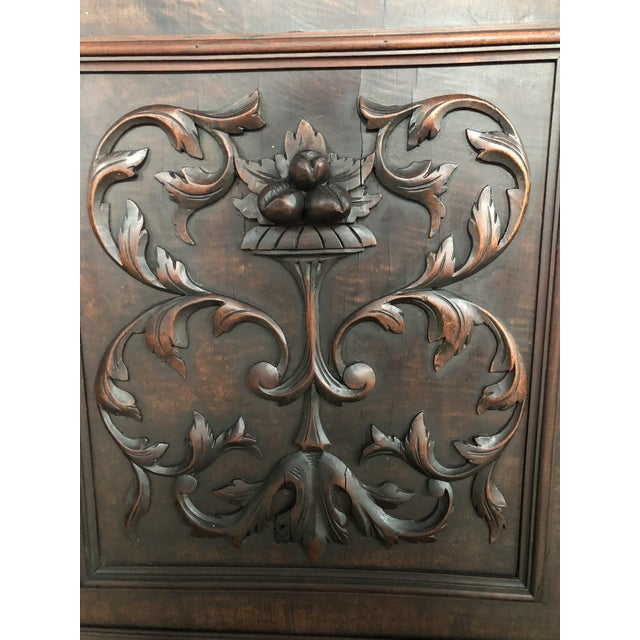1800s Carved Antique Library Hutch For Sale In Miami - Image 6 of 11