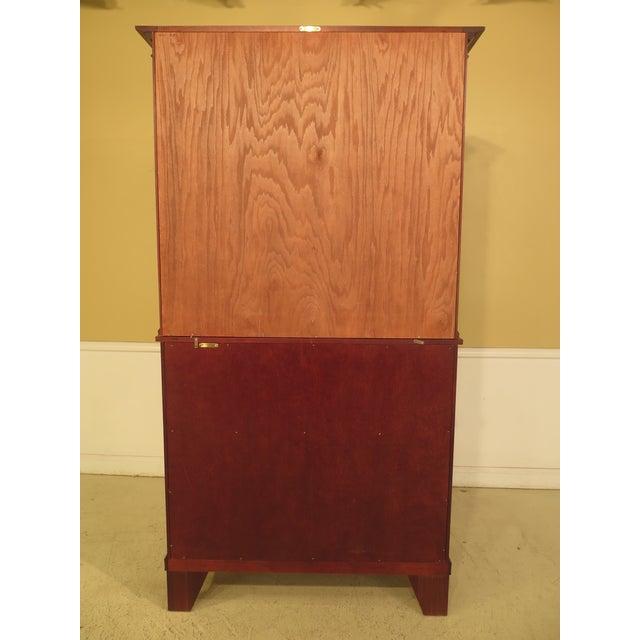 Craftique Empire Mahogany Butler Secretary Desk For Sale - Image 9 of 11
