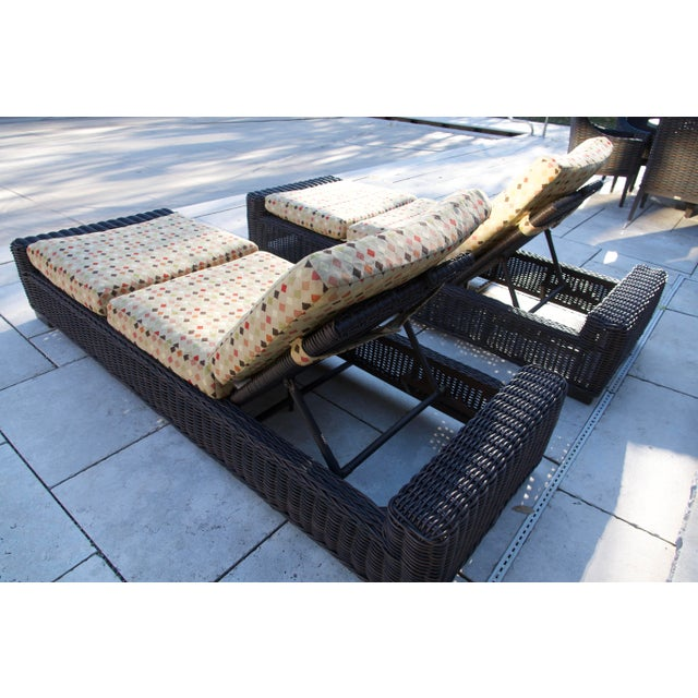 Summer Classics- Rustic Woven Chaise Lounge and Cushion For Sale - Image 9 of 13