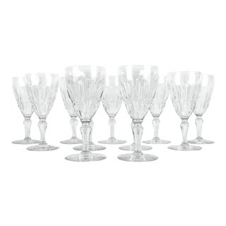 Mid-Century Baccarat Crystal Wine/Water Glasses