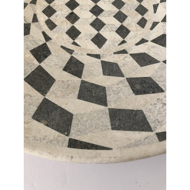 1990s Large Vintage Tessellated Stone Platter For Sale - Image 5 of 11