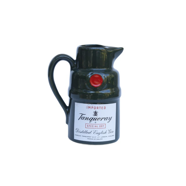 Tanqueray English Gin Ceramic Pitcher For Sale