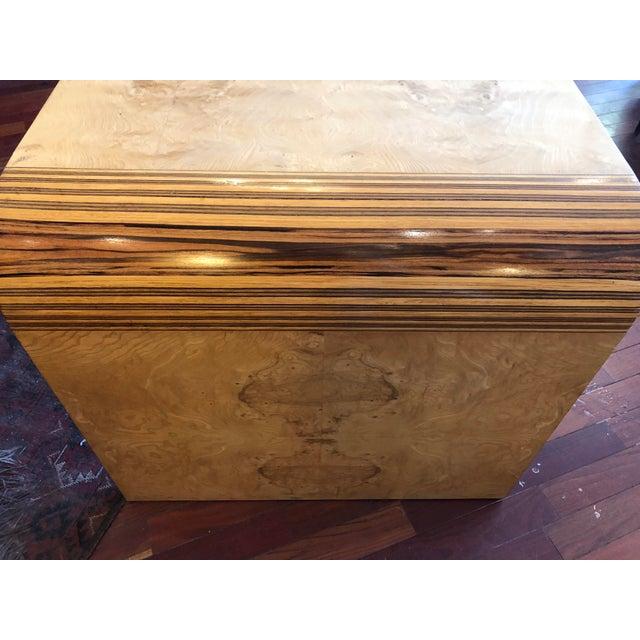 Brown Vintage 1970's Henredon Olive Burl Waterfall Desk/Table For Sale - Image 8 of 13