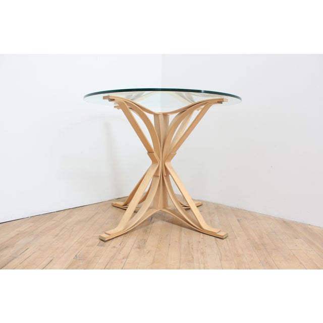 Contemporary 1992 Frank Gehry Face Off Table for Knoll- Maple and Glass For Sale - Image 3 of 9