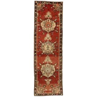 Vintage Turkish Oushak Rug Runner - 2′5″ × 7′9″ For Sale