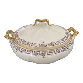 Antique Limoges Greek Key Serving Dish For Sale