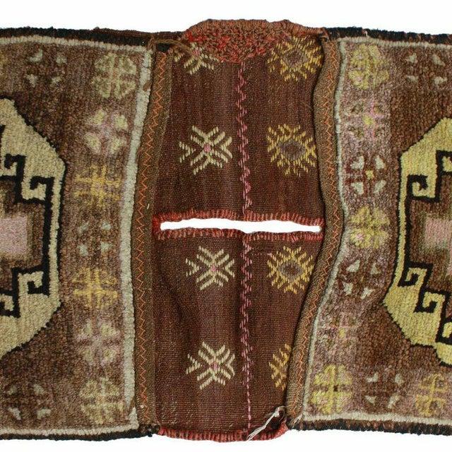 Vintage Turkish Carpet Saddlebag - 1'6'' X 3'9'' - Image 2 of 3