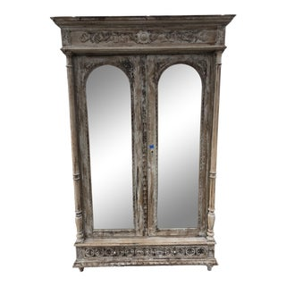 19th Century French Renaissance Mirrored Armoire