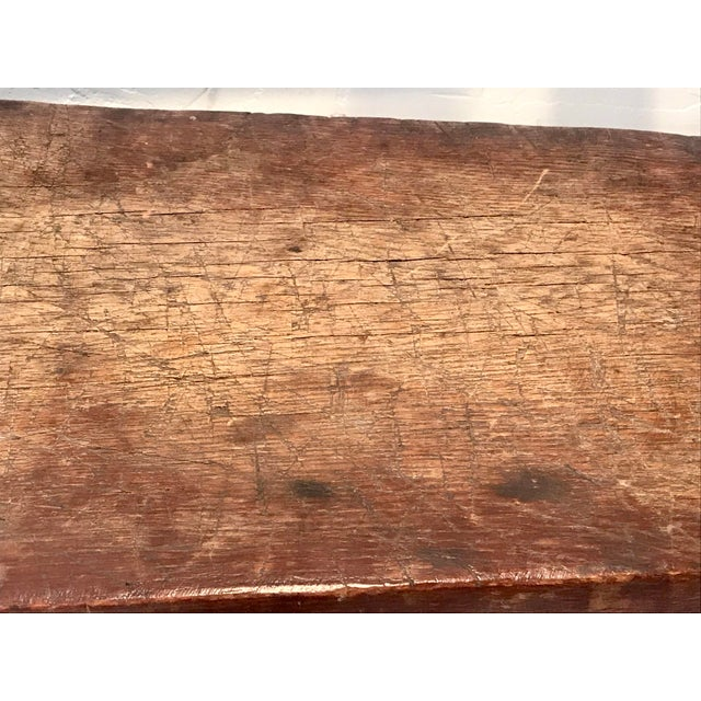 1900 - 1909 Antique Primitive Live Edge Coffee Table For Sale - Image 5 of 11
