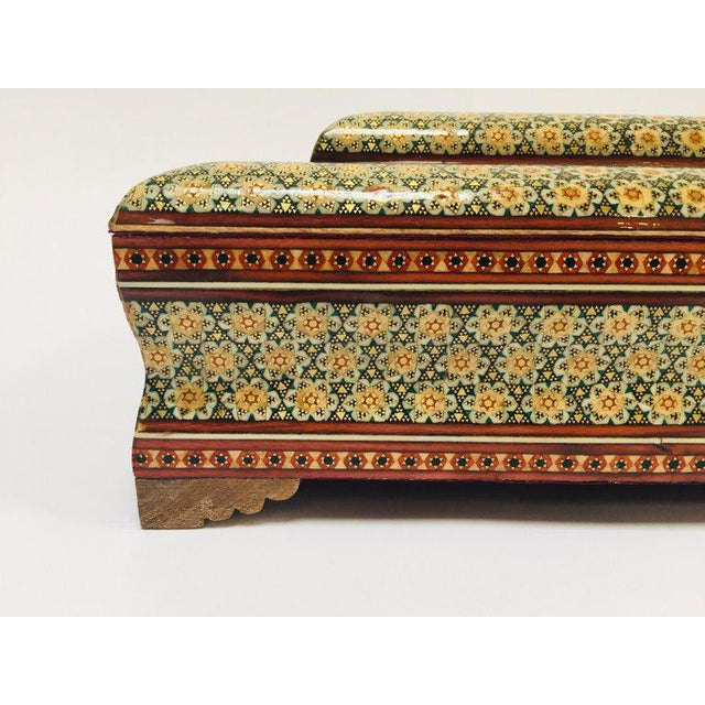 Large Persian Jewelry Mosaic Khatam Inlaid Box For Sale In Los Angeles - Image 6 of 13