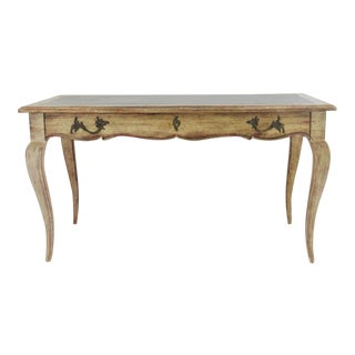 French Style Distressed Writing Desk For Sale