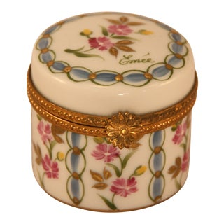 Limoges Floral Trinket Box For Sale