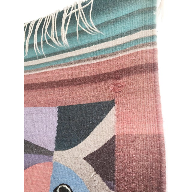 Boho Chic Vintage Woven Fish Wall Hanging For Sale - Image 3 of 7