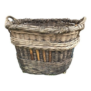 Vintage French Champagne Harvest Basket