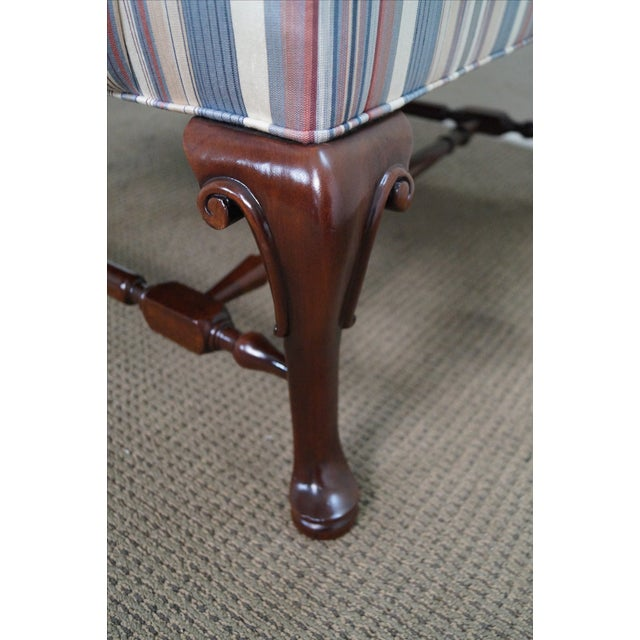 Hickory Chair Solid Mahogany Queen Anne Wing Chair - Image 9 of 10
