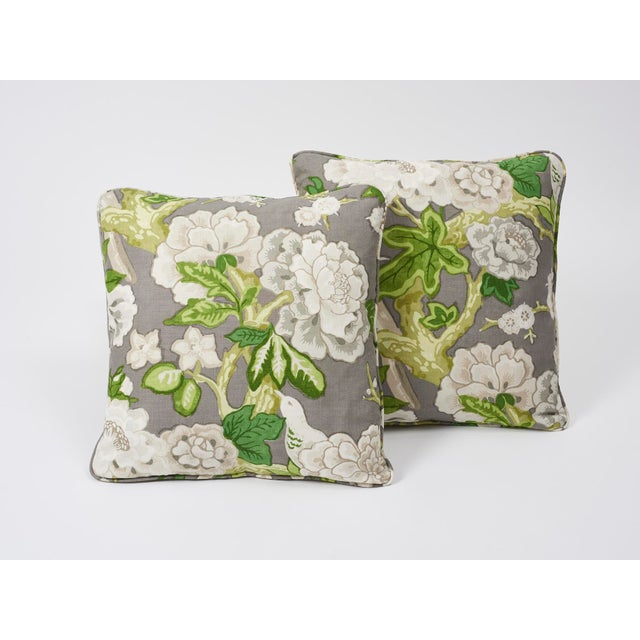 Schumacher Schumacher Double-Sided Pillow in Bermuda Blossoms Print For Sale - Image 4 of 5