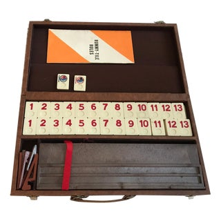 Vintage Rummy Rummikub Set in Faux Leather Case