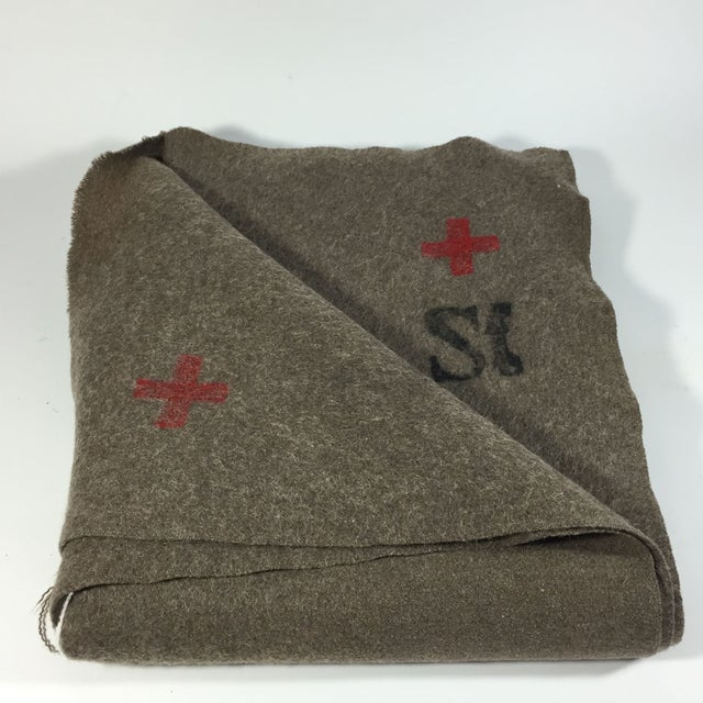 Swiss Army Wool Blanket 1940s - Image 4 of 7