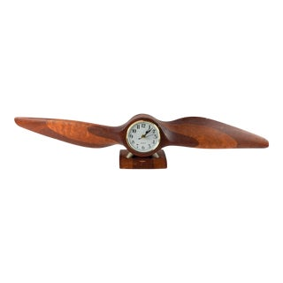1940's Wood Propeller Clock For Sale