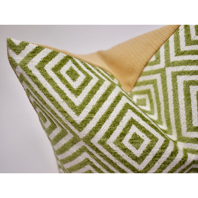 Bassett McNab Company Washed Chenille and Boucle Square Pillow For Sale - Image 4 of 6
