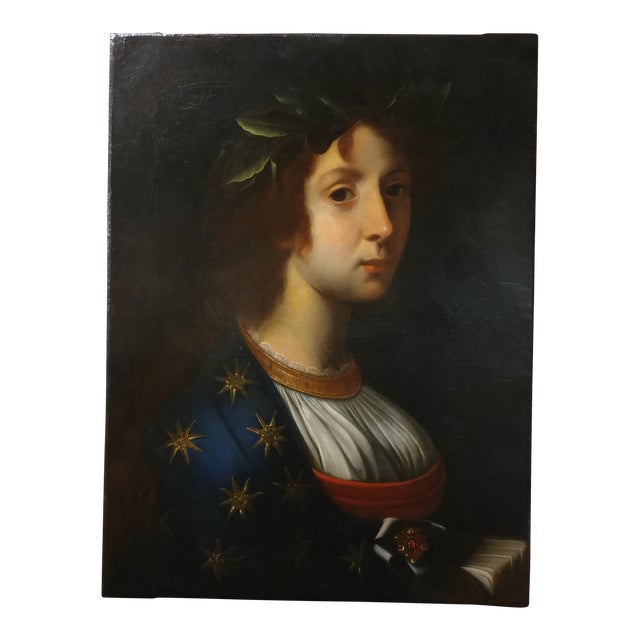 La Poesia - 18th Century Oil Painting For Sale