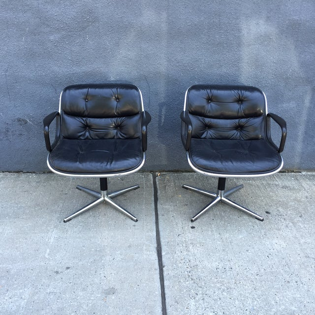 Lounge Chairs by Charles Pollock for Knoll - Pair - Image 2 of 10