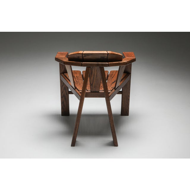 Brown Walnut Craftsman Chair - 1960s For Sale - Image 8 of 13
