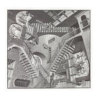 Escher m.c - Relativity - Offset Lithograph 1988 For Sale