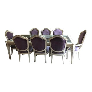 Marge Carson Dining Table and Chairs For Sale