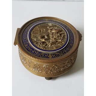 Antique French Ovington Brothers Brooklyn New York Gilt Bronze & Enamel Casket Box Preview
