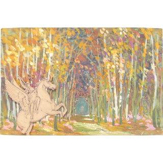 Enchanted Forest & Pegasus Stage Set Design For Sale